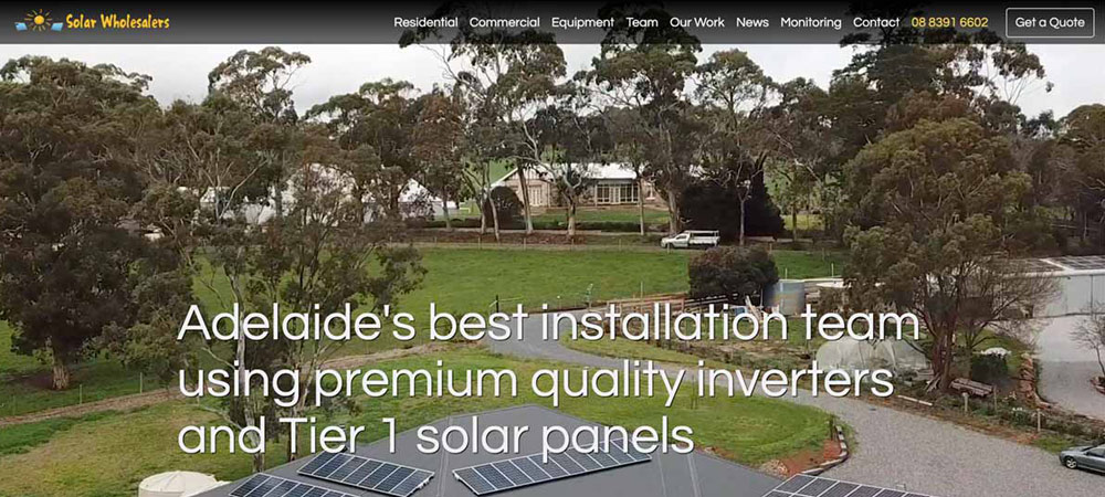 new solar wholesalers website